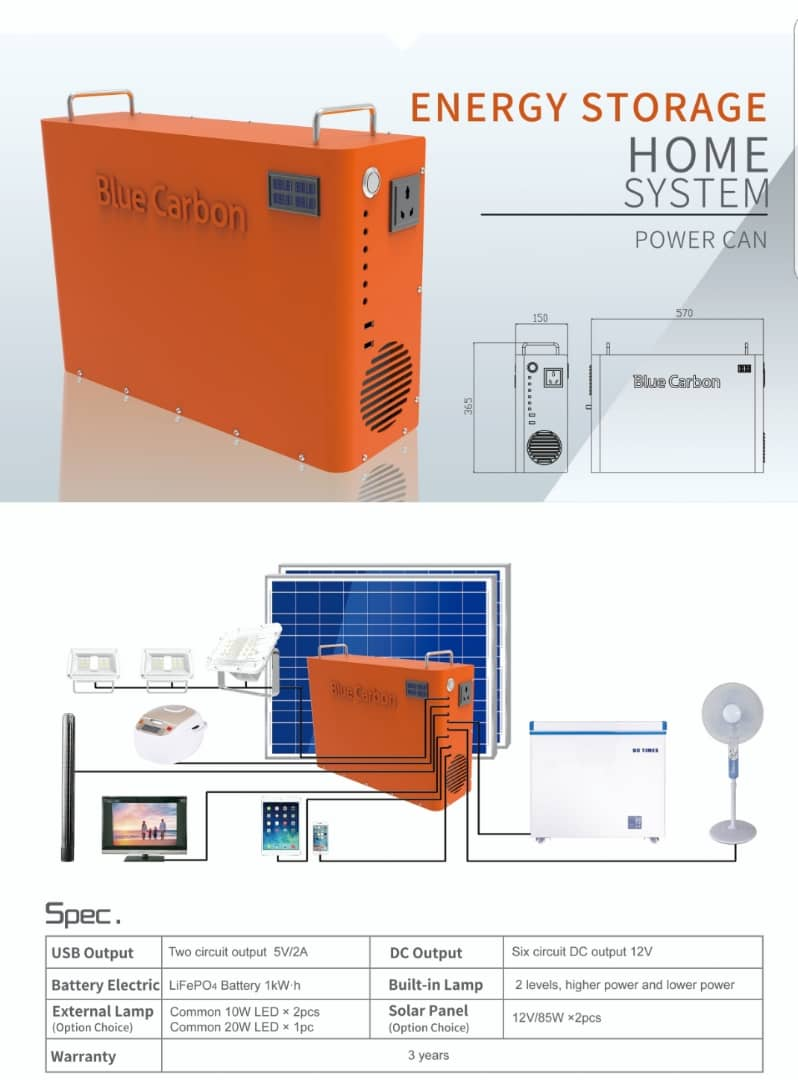 Energy Storage Home System (Power Can)